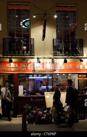 Restaurant in Chinatown, London - Stock Photo