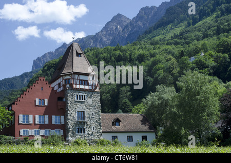 A winery at Vaduz, Liechtenstein - Stock Photo