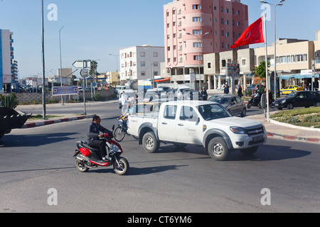 EL DJEM, TUNISIA, AFRICA-CIRCA MAY, 2012: City and town transport is on the streets of small town. Scenes of Tunisia, - Stock Photo