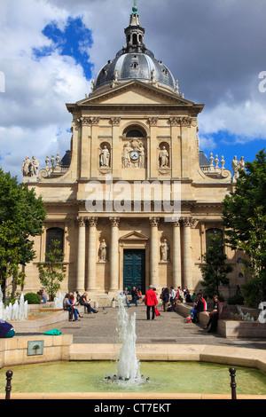 France, Paris, Place de la Sorbonne, Église de la Sorbonne, university, - Stock Photo