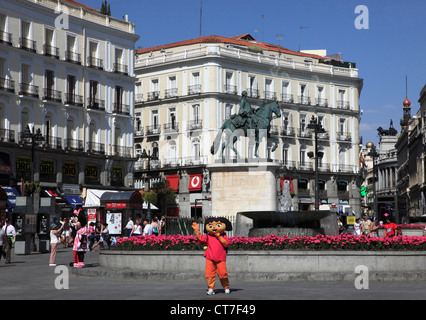 Spain, Madrid, Puerta del Sol, - Stock Photo