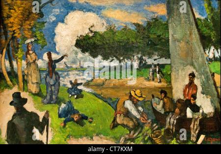 The Fishermen (Fantastic Scene) 1875 Paul Cézanne 1839 – 1906 France French - Stock Photo