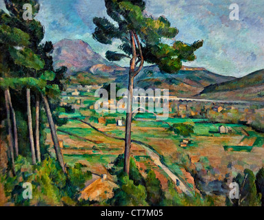 Mont Sainte Victoire and the Viaduct of the Arc River Valley 1882 Paul Cézanne 1839 – 1906 France French - Stock Photo