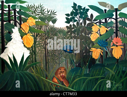 The Repast of the Lion 1907  Henri Rousseau 1844-1910 France French ( Le Douanier - The customs officer ) - Stock Photo