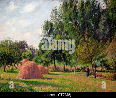 Haystacks Morning Eragny 1899 Camille Pissarro 1830 - 1905 France French - Stock Photo
