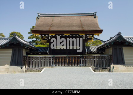 Part of the boundary wall of Kyoto Imperial Palace in the Kyoto Imperial Palace Park. Kyoto, Japan - Stock Photo