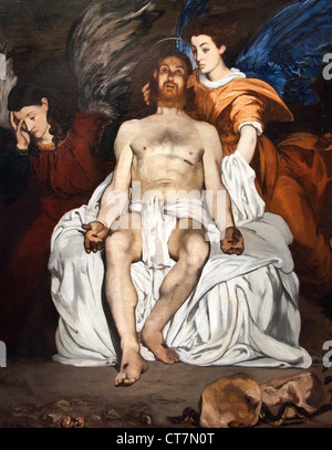 The Dead Christ with Angels 1864 Clematis in a Crystal Vase. c.1881 Édouard Manet 1832 – 1883 France French - Stock Photo