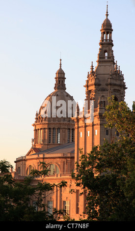 Spain, Catalonia, Barcelona, Museu Nacional d'Art de Catalunya, - Stock Photo