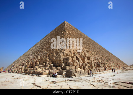The Great Pyramid of Cheops, Giza, Egypt - Stock Photo