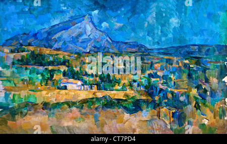 Mont Sainte Victoire 1902 Paul Cézanne 1839–1906 France French - Stock Photo