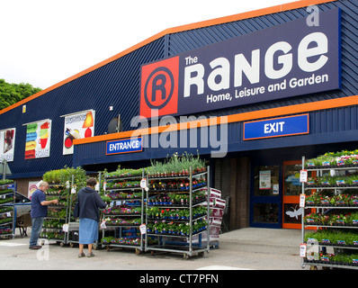 The Range a discount home and garden goods store in truro  cornwall  uk. The Range   a discount home goods store Stock Photo  Royalty Free