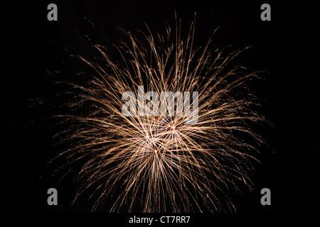 fireworks on the black background - Stock Photo