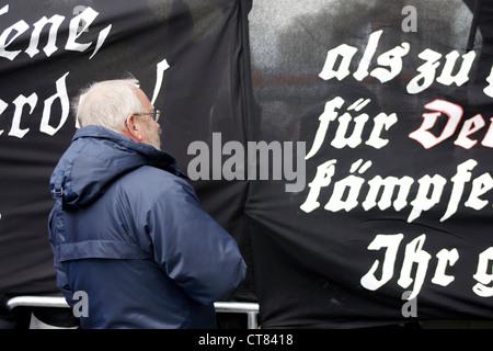 NPD rally in Berlin - Stock Photo