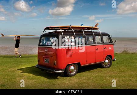Surfers1965 VW  Micro bus - Stock Photo
