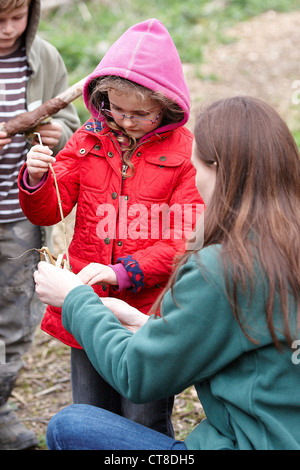 Adventures with Sticks book launch event at BBOWT College Lake reserve near Tring - Stock Photo