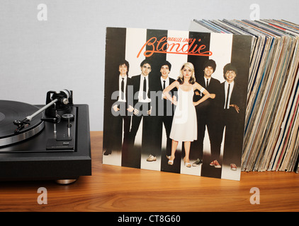 Parallel Lines is the third studio album by American new wave band Blondie, released in 1978. - Stock Photo