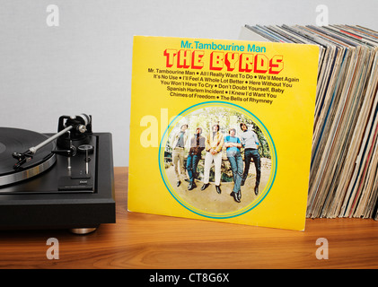 Mr. Tambourine Man is the debut album by the American folk rock band The Byrds. - Stock Photo