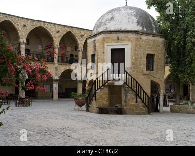 dh Old Town North NICOSIA CYPRUS Buyuk Han Big Inn courtyard Lefkosa Ottomans Caravanserai - Stock Photo