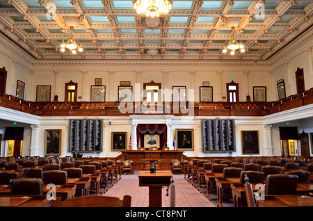 ... Interior Of Texas House Of Representatives In The State Capital  Building. Austin, Texas,