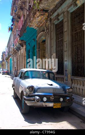 Vintage Buick Car, La Havana, Cuba - Stock Photo
