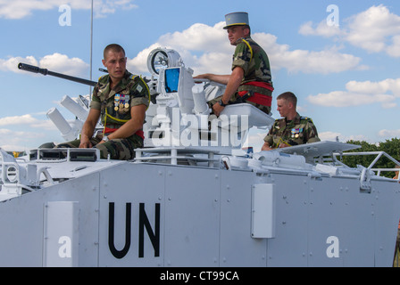 Paris, France, Public Events, National Day, 'Bastille Day', '14th of July', Portrait French Army Soldiers, UN Personnel, - Stock Photo