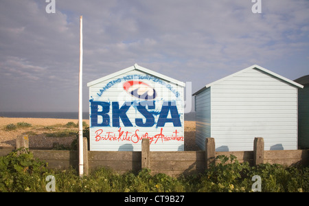 british kite surfing association at lancing on the sussex coast - Stock Photo