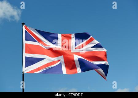 UK Union Jack Flag - Stock Photo