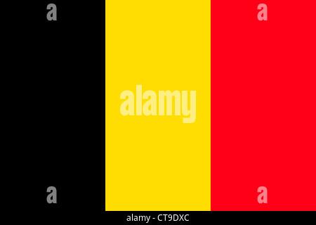Flag of the Kingdom Belgium. - Stock Photo