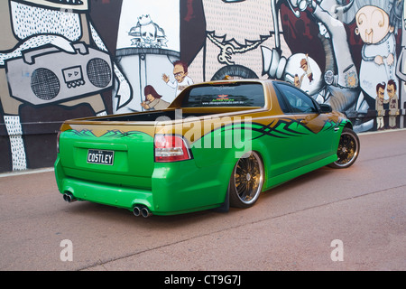 Built by Western Australian Holden enthusiast, Ian Costley, this Holden ute typifies the modern Australian muscle - Stock Photo