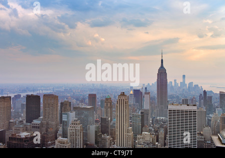 A view over midtown and downtown Manhattan, New York City, USA.