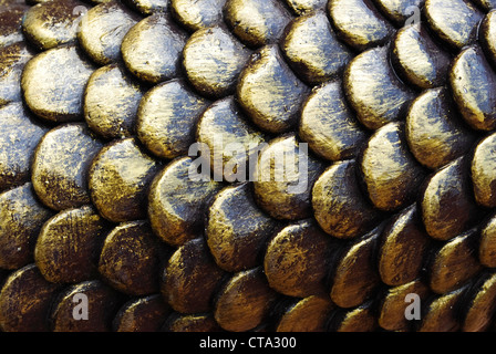 Fish scales background - Stock Photo