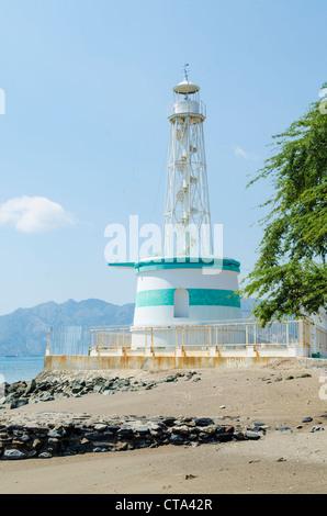 lighthouse in dili east timor, timor leste - Stock Photo