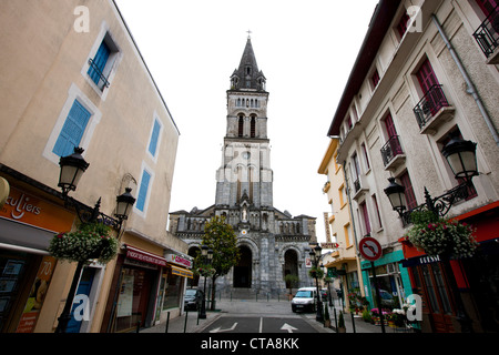 Church of Sacred Heart, Lourdes, Hautes-Pyrenees, Midi-Pyrenees, France - Stock Photo