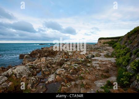 Atlantic coast near Le Croisic, Loire-Atlantique, Pays de la Loire, France - Stock Photo