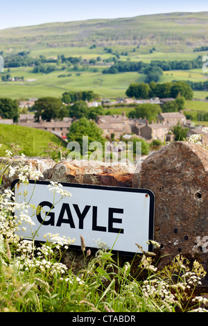 The village of Gayle in Wensleydale, Yorkshire Dales UK - Stock Photo