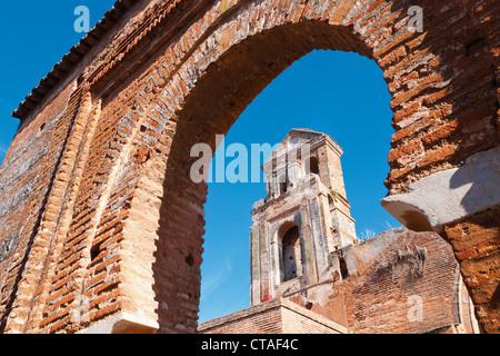 Niebla, Huelva Province, Andalusia, southern Spain. Ruins of the Church of Saint Martin. Iglesia de San Martin. - Stock Photo