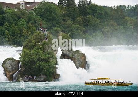 Rheinfall, Rhine falls near Schaffhausen, Switzerland - Stock Photo