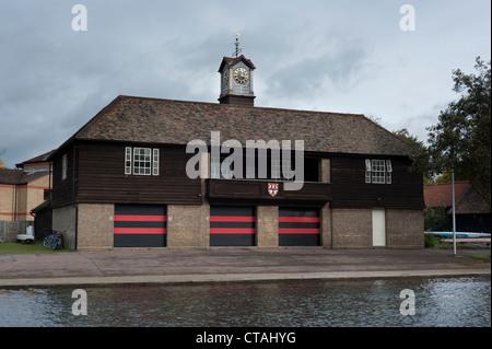 Boathouse of Jesus College in Cambridge, UK - Stock Photo