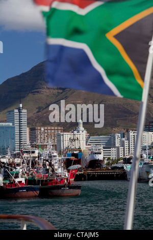 View from Victoria &amp, amp, amp, Albert Waterfront onto the habour in Cape Town, Cape Town, Western Cape, South - Stock Photo