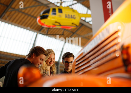 Students in the Transport Museum, Deutsches Museum, German Museum, Munich, Bavaria, Germany - Stock Photo