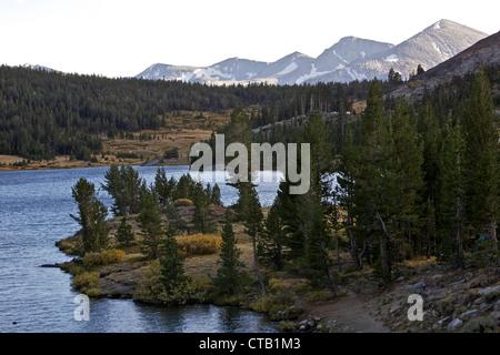 Lake near the Tioga Pass Road, Yosemite Nationalpark, California, USA - Stock Photo