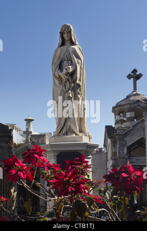 Grace monuments at La Recoleta Cemetery, Buenos Aires, Argentina - Stock Photo