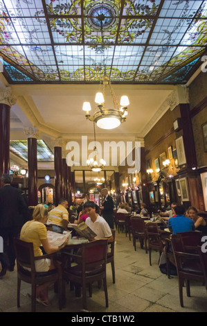 Famous Cafe Tortoni in the Avenida de Mayo since 1958, Buenos Aires, Argentina - Stock Photo