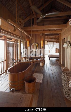 Bathroom, Evasion Hideaway, Ninh Van Bay, Nha Trang, Khanh Ha, Vietnam - Stock Photo