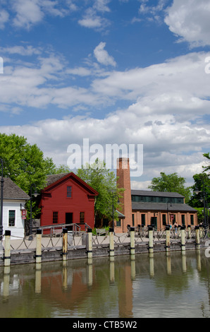 Michigan, Wyandotte. Greenfield Village, home to nearly 100 historical buildings dating back to the 17th century. - Stock Photo