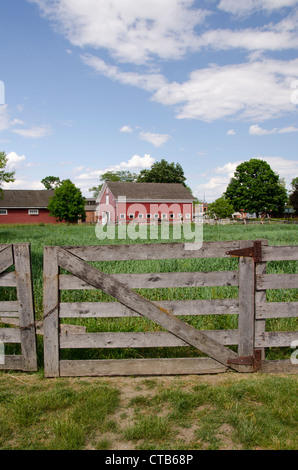 Michigan, Wyandotte. Greenfield Village, home to nearly 100 historical buildings. - Stock Photo