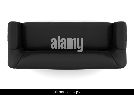 Admirable Top View Of Black Leather Sofa Isolated On White Stock Photo Machost Co Dining Chair Design Ideas Machostcouk