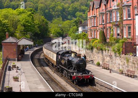 Llangollen steam train - Stock Photo