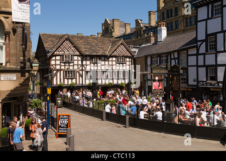 Old Wellington Inn, Manchester, England - Stock Photo