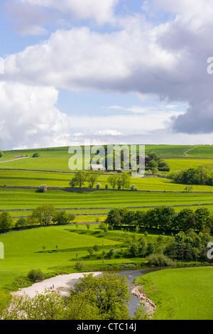 Pastureland, Burnsall, Yorkshire Dales - Stock Photo
